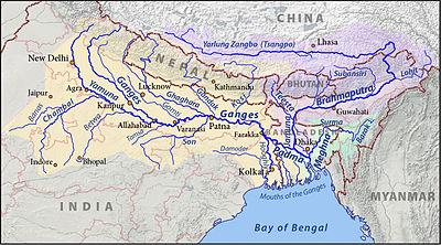 Image result for ganga brahmaputra basin on india map