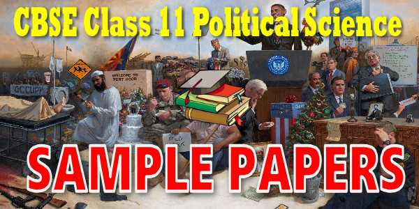 CBSE Sample Papers for Class 11 Political Science
