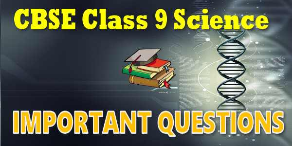 CBSE Important Questions for CBSE Class 09 Science Atoms and