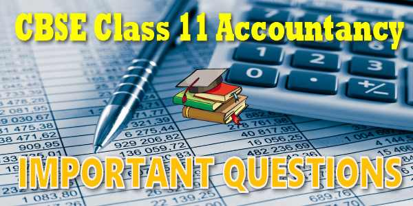 Important Questions class 11 Accountancy FS of Non profit Organisation