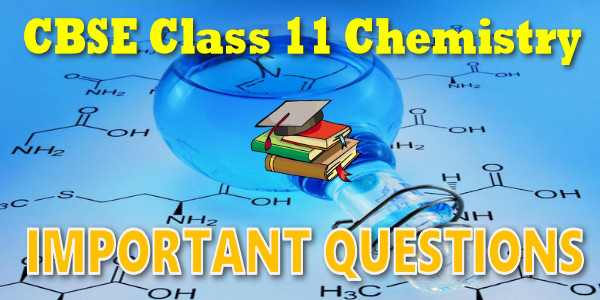 Important Questions class 11 Chemistry
