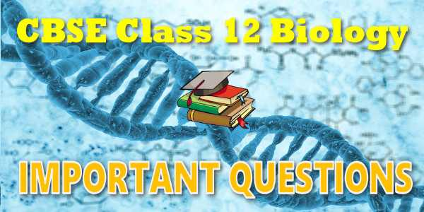 Important Questions class 12 Biology