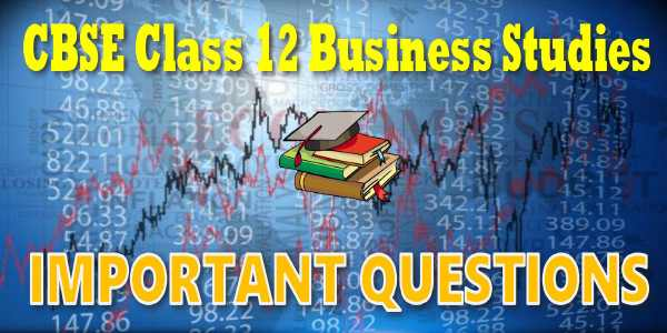 Important Questions class 12 Business Studies Organising