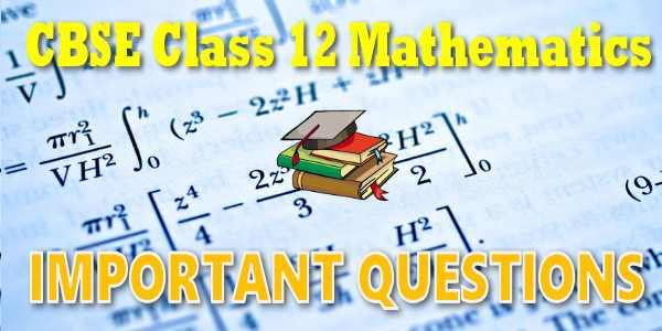 Important Questions class 12 Mathematics