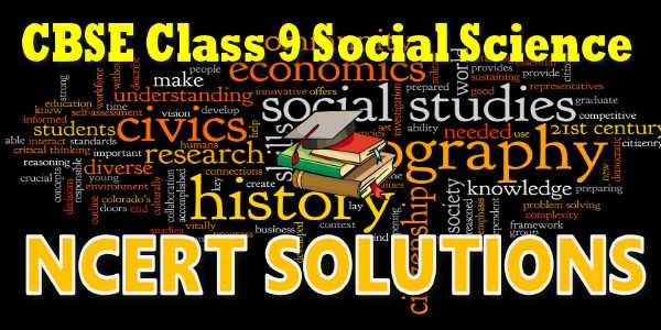 NCERT solutions Class 9 Social Science