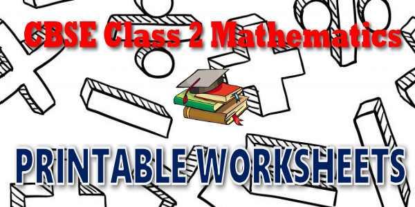 CBSE Worksheets for CBSE Class 02 Mathematics
