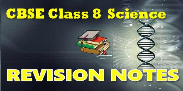 CBSE Revision Notes for class 8 Science