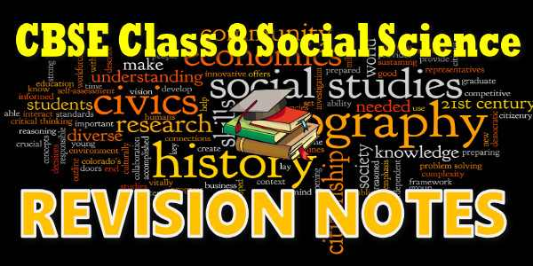 CBSE Revision Notes for class 8 Social Science