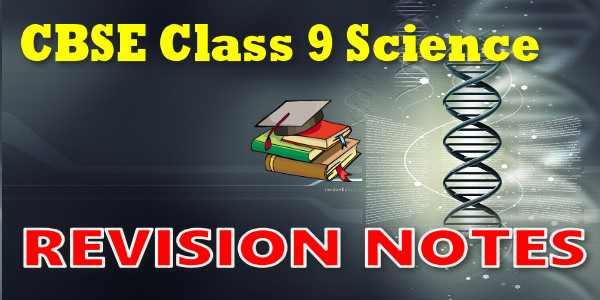 CBSE Revision Notes Class 9 Science