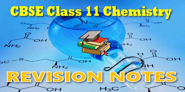 CBSE Revision Notes for class 11 Chemistry
