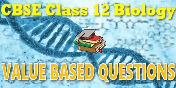CBSE Value Based Questionsclass 12 Biology