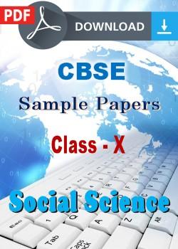 10 Social Science Sample Papers (PDF)