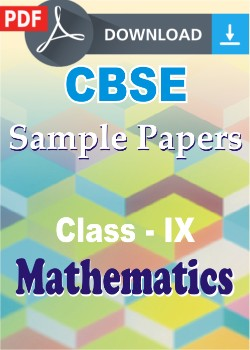 sample paper of maths class 9 pdf download